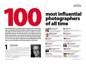 Los 100 fotógrafos más influyentes de todos los tiempos
